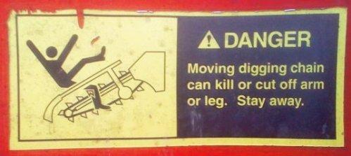 Trencher Warning